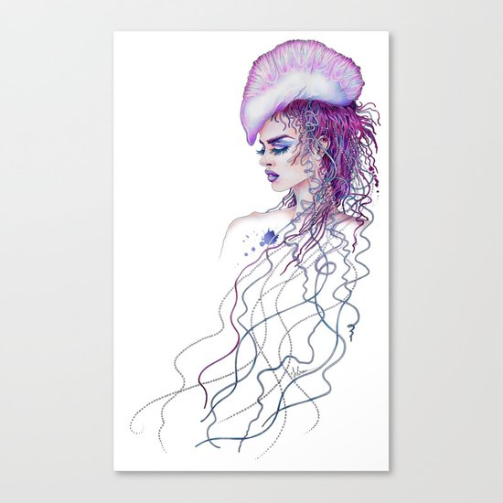 Portuguese War Woman Canvas Print