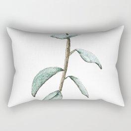 Watercolor Ficus Leaves Rectangular Pillow