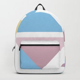 Geometric triangle pastel origami Backpack