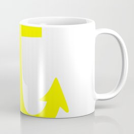 Anchor (Yellow & White) Coffee Mug