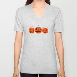 Trick or Treat Smell My Feet- Turquoise Unisex V-Neck