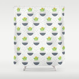 Potted Kalanchoe Plant Mom Pattern Shower Curtain