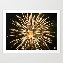 Up-close Fireworks Art Print