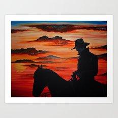Cowboy Navajo Art Print