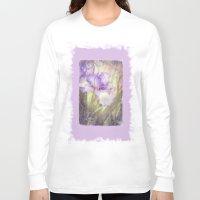 iris Long Sleeve T-shirts featuring Iris by Kimberley Britt