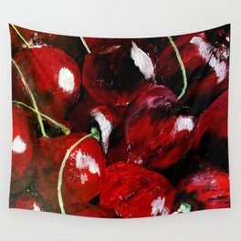 Cherries - Still Life In Acrylics Original Fine Art Wall Tapestry