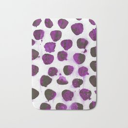 Deep purple floating ink blobs. Bath Mat