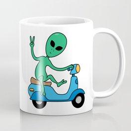 Alien On The Go Go Go Coffee Mug