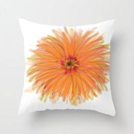 Orange burst daisy Throw Pillow