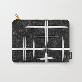 Black and White Hop Scotch Cris Cross Carry-All Pouch
