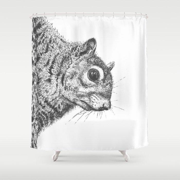 Squirrel Shower Curtain By Annamariekelleher