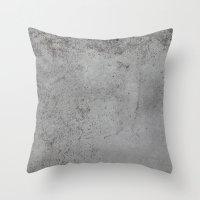 concrete Throw Pillows featuring Concrete by Coconuts & Shrimps