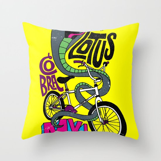 Lotus BMX Throw Pillow