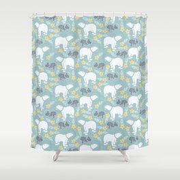 bears and hears Shower Curtain