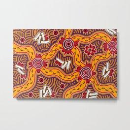 Authentic Aboriginal Art - Bush Tucker Metal Print