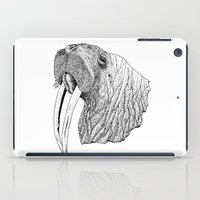 walrus iPad Cases featuring Walrus by MattLeckie