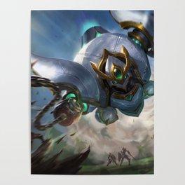 Lancer Paragon Blitzcrank League Of Legends Poster