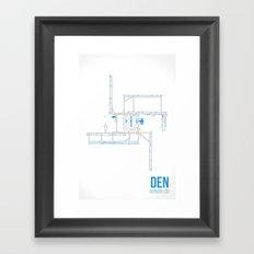 DEN Framed Art Print