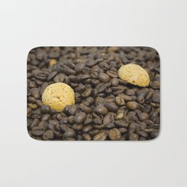 Coffee with biscuits Bath Mat