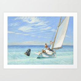 Edward Hopper Ground Swell 1939 Painting Art Print