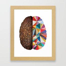 Geometric Right Brain Framed Art Print