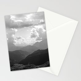 Mountain Ridges and Clouds Alps Alpine Landscape Stationery Cards