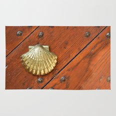 Gold shell Rug