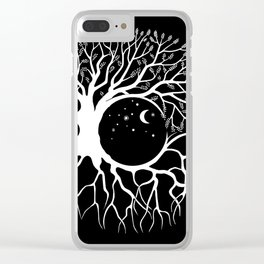 Tree of life, circular continuity Clear iPhone Case