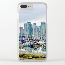 Vancouver Skyline At Stanley Park Clear iPhone Case