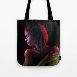 Red in The Dark Tote Bag