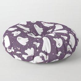 Pink Ghost Pattern Floor Pillow