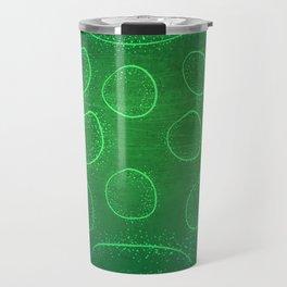 Chladni Pattern - Green by Spencer Gee Travel Mug