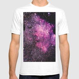 space galaxy Pink Purple T-shirt