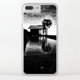 A shack silhouette Clear iPhone Case