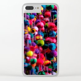 Color Fluffs Clear iPhone Case