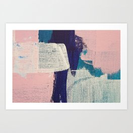 Abstract Pinks and Blue Art Print