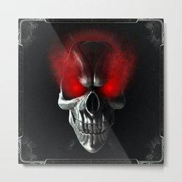 Skull with glowing red eyes Metal Print