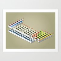 periodic table Art Prints featuring periodic table by anil yanik