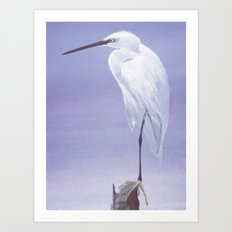 Purple Crane Art Print