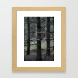 Clawing branches Framed Art Print