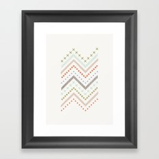 Mixed Zig Zag - in Mint Framed Art Print