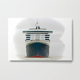 Queen Mary 2 Metal Print