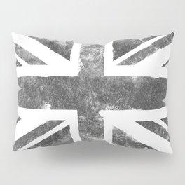 Grey UK Flag Pillow Sham