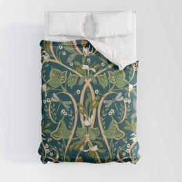 Royal Garden Art Nouveau | Deep Teal Comforters