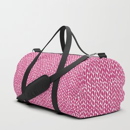 Hand Knit Hot Pink Duffle Bag