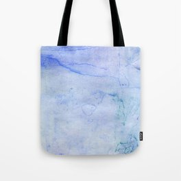 Hand painted blue green abstract watercolor pattern Tote Bag