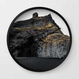 Black sand beach Iceland Wall Clock
