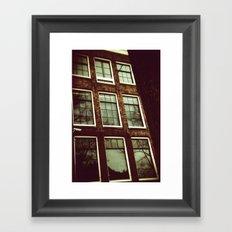 anne frank house Framed Art Print