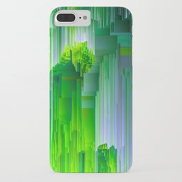 Nature Glitchin' - Abstract Pixel art iPhone Case