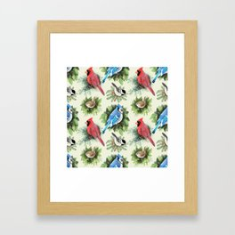 Birds and Branches Framed Art Print